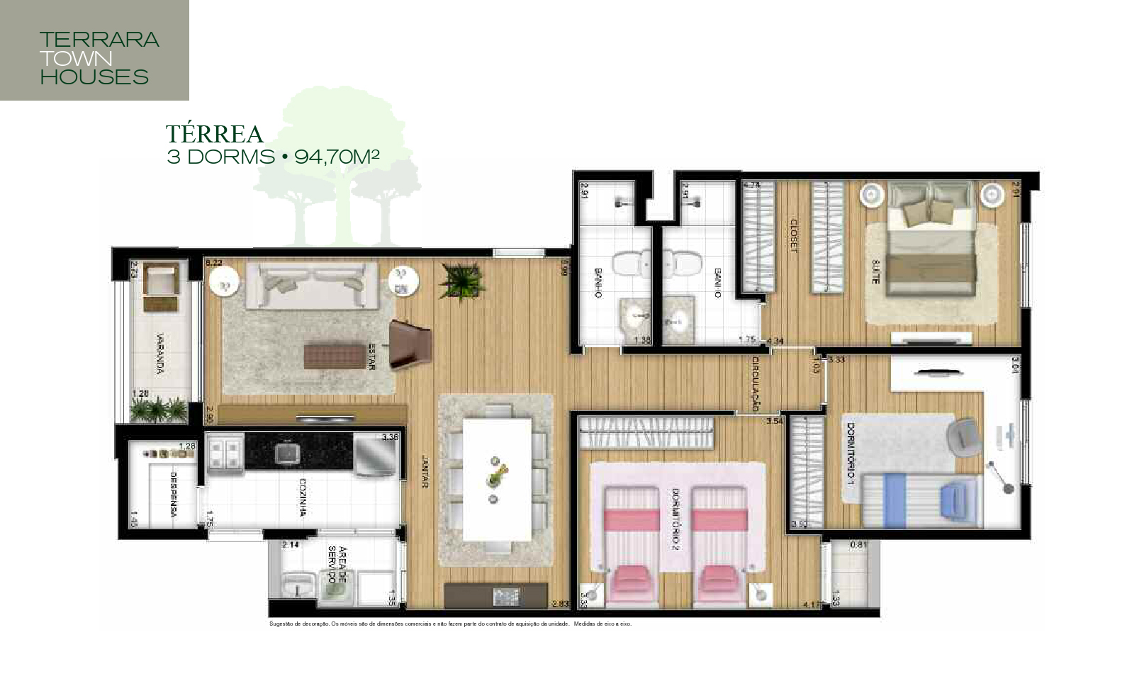 TownHouse Térrea 94m²